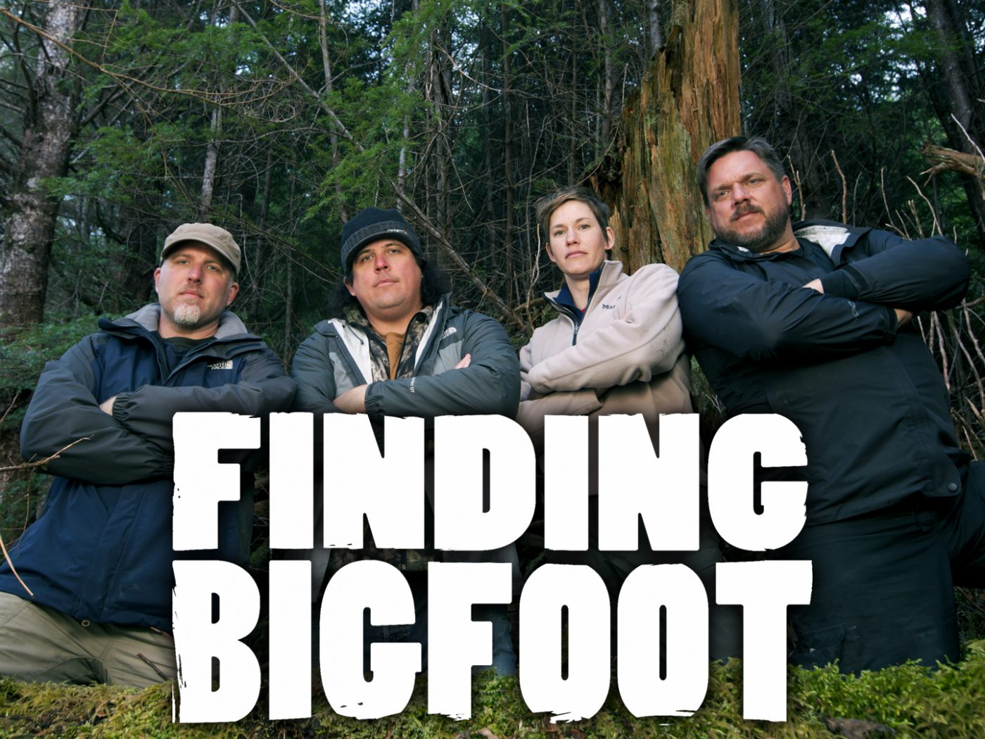 """Finding Bigfoot is a show about a team of esteemed """"experts"""" in all things Bigfoot. The group is a part of BFRO - Bigfoot Field Researchers Organization. Matt Moneymaker, a former lawyer, is the founder and president of the BFRO and thus, the leadman of the show. The rest of his BFRO team is rounded out by Ranae Holland, the supposedly skeptical field biologist. Cliff Barackman, the evidence analyst and self proclaimed Bigfoot nerd. Last but not least there's James """"Bobo"""" Fay, the expert field caller and comic relief of the show (on this program, that's saying something)."""