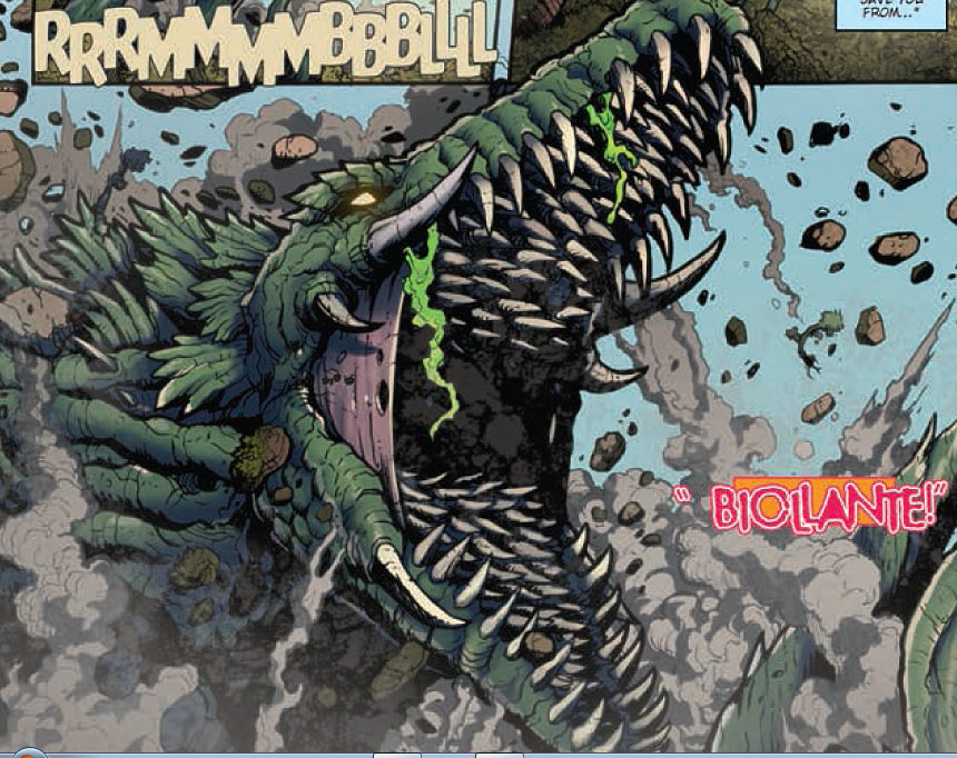 In last month's issue, Godzilla and Jet Jaguar teamed up to fight off Gigan and Orga while Woods and Chavez were transported to the alien invaders' spacecraft. In this issue it's now up to Jet Jaguar to save them. Is it good?