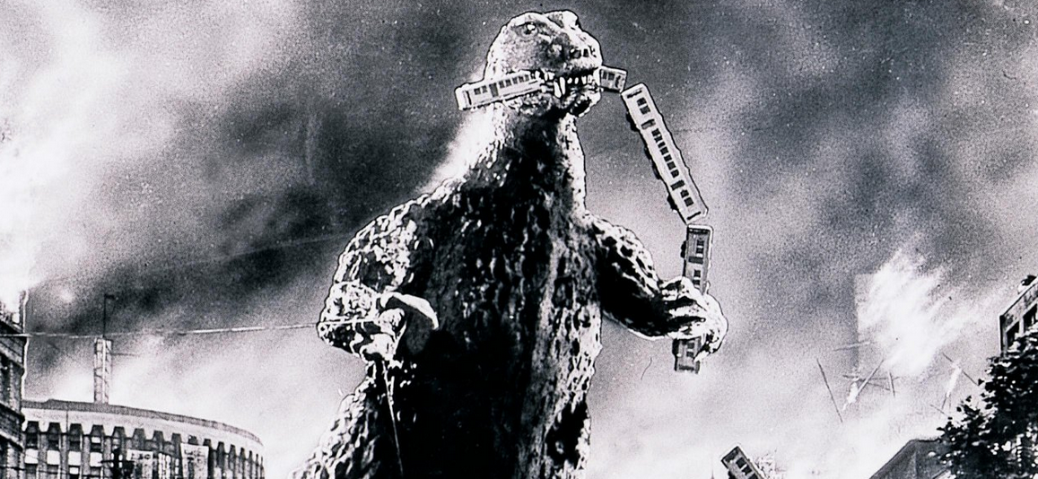In the run up to May's release of Godzilla by Legendary Pictures, I figured I'd take a look at the Godzilla films I grew up with: The Showa series.  For the record, the Showa series represents the first 15 Godzilla films produced between 1954 and 1975 (before the reboot in 1984 which ushered in the Heisei series).  These are the films I watched over and over again as a kid either on tape, rerun on cable or as part of Mystery Science Theater 3000.  They run the gamut of sophisticated to mentally handicapped, thrilling to mind-numbing, elaborate to clip show, so let's take a look back at the original series, starting from the top…