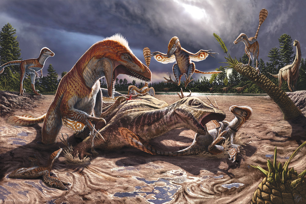 Imagine for a second you're an artist. But you're not just any artist, you're an artist of dinosaur art. But not just any dinosaur art, photographic composites. What exactly does that look like, and hell, will I even like it?