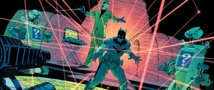 This is it. Over one year later, we have reached it. This is the finale for Scott Snyder's Zero Year. It's been one hell of a roller-coaster ride from beginning to end, with lots of twists and turns. Batman faced down the Red Hood Gang, Dr. Death, and now he gets ready to stop the Riddler. Who will win? …Well… it's obvious who will win since this is a prequel/origin story and stuff. However, how will it all go down? Is it good?