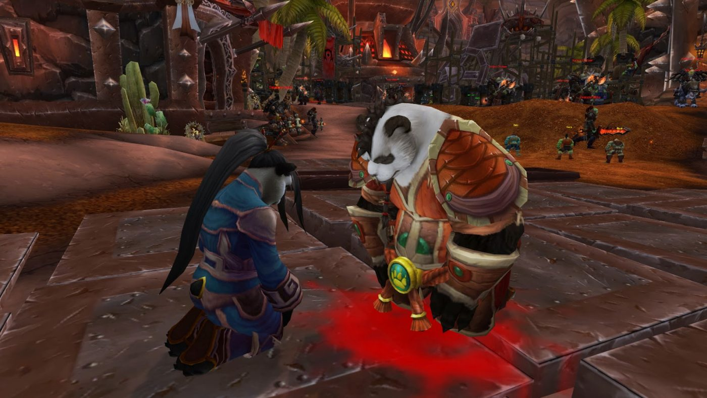 In Mists of Pandaria, the Alliance and Horde both come across the Wandering Isle, the back of enormous turtle Shen-zin Su, floating listlessly around Azeroth's oceans. On it are a group of Pandaren, the eponymous former denizens of Pandaria who have inside them a sense of adventure and wanderlust not shared with most of their brethren.