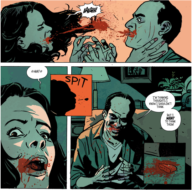Expressionistic colouring by Elizabeth Breitweiser (line art by Paul Azaceta) from Outcast