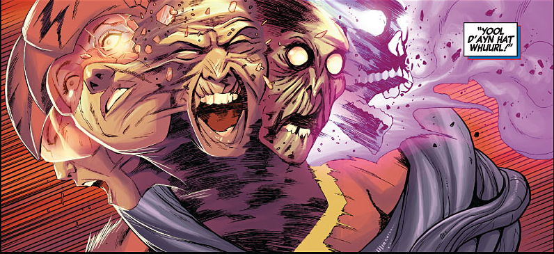 In New Avengers, the dastardly do-gooders of the Illuminati are faced with a mind-numbingly horrific problem. Infinite parallel universes are slowly crashing into each other, two at a time, and when their respective Earths come into contact, both realities are completely annihilated. If those Earths can be prevented from meeting, however, the reaction is thwarted. The Black Panther learns this when the mysterious Black Swan arrives in Wakanda and promptly destroys the planet from which she came, another Earth hanging above.