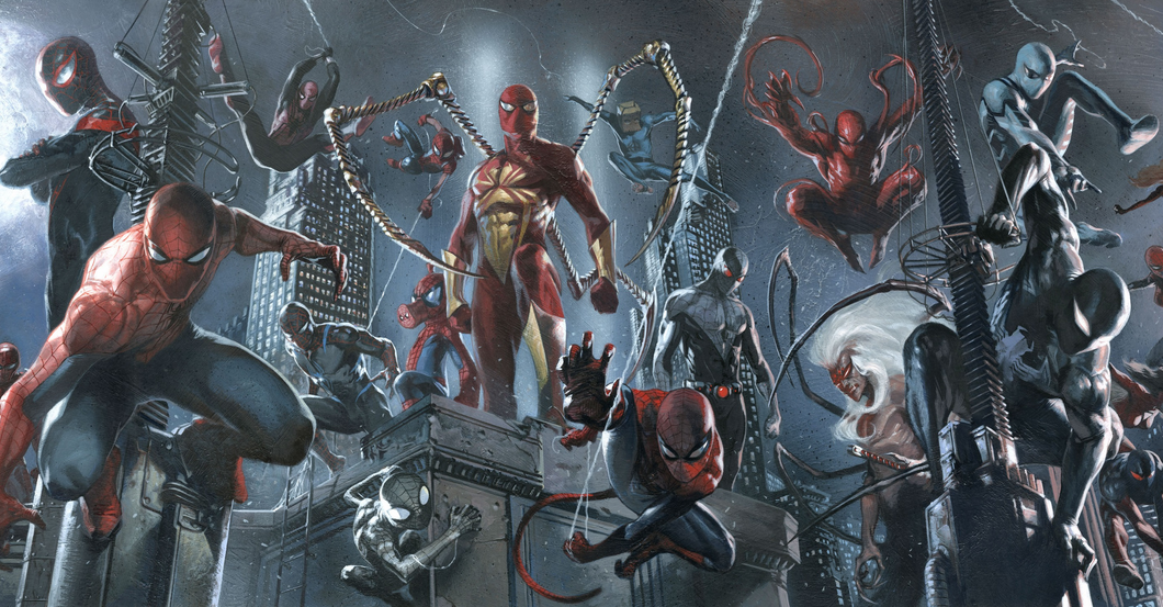 """The Marvel Universe currently teeters on the edge of """"Spider-Verse,"""" a reality-spanning epic that promises to feature """"every Spider-Man ever,"""" as they try to avoid the predatory totem-eaters that cross between universes to strike at their prey."""