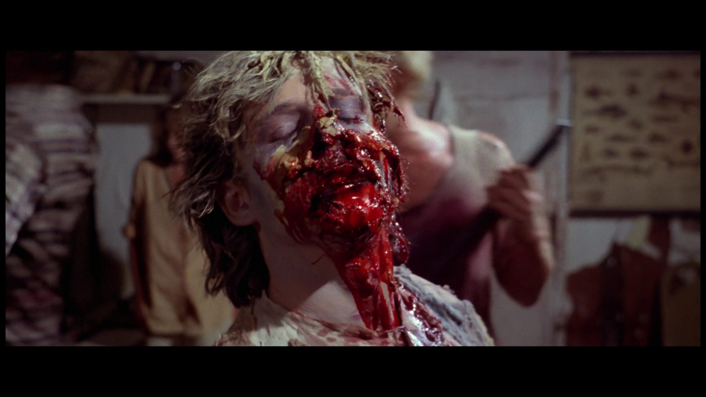Just to clear a few things up, the film we Americans recognize as Zombie was in fact originally released in Europe as Zombi 2, a sequel to George A. Romero's Dawn of the Dead, which was released over there as Zombi, naturally.