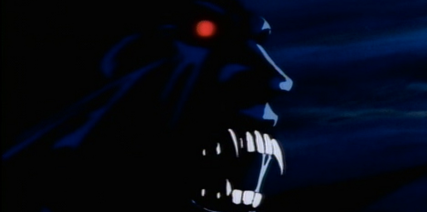 The original Vampire Hunter D seems to receive a pretty polarized reaction when mentioned among horror and animation enthusiasts. Those who like it really like it and those who hate it really hate it. I suppose you can count me among the former, as I adore every cheesy and dated drop of this horror-fantasy cartoon from the '80s. It actually got me into the original novels by Hideyuki Kikuchi which have been wonderfully translated by Dark Horse Publishing and are well worth a look if you're into epic vampire literature.
