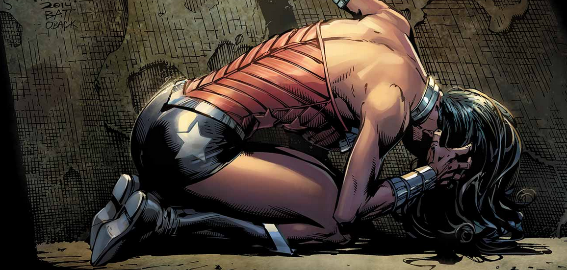Superman has gone missing within the caverns and Wonder Woman and Batman team up and go after him.