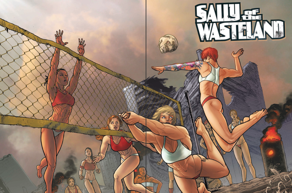 If you like your post apocalyptic worlds complete with wild mutant monsters, cannibals and sexual innuendo I'm more than certain you'd like Sally of the Wasteland, a recently collected five issue series out March 25...but is it good?