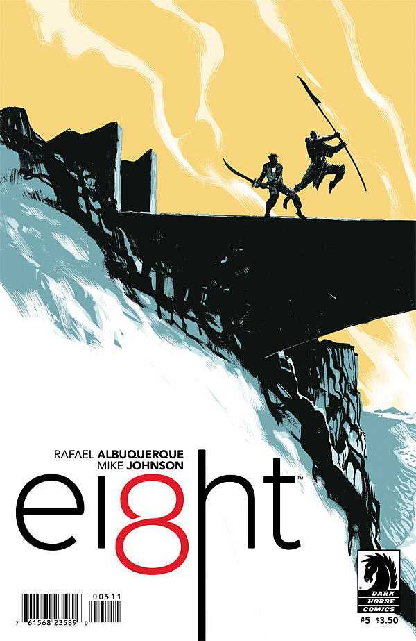 After four impressive issues, Albuquerque closes out book one of his hyped new series. With Nila in the past and Joshua primed to face off with the Spear, this issue looks to be an epic finish. Ei8ht #5 is out June 17. Is it good?