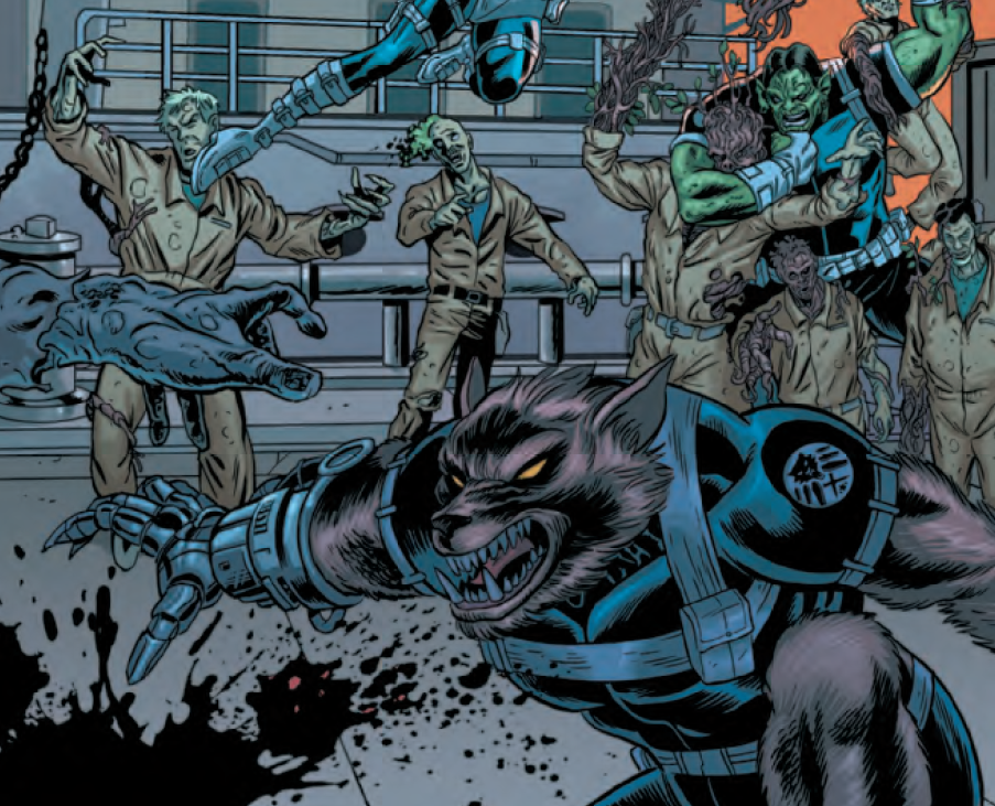 Who exactly are the Howling Commandos? Turns out that they are an expendable team of awkwardly named monsters held captive by S.H.I.E.L.D to be deployed only in the direst of situations.