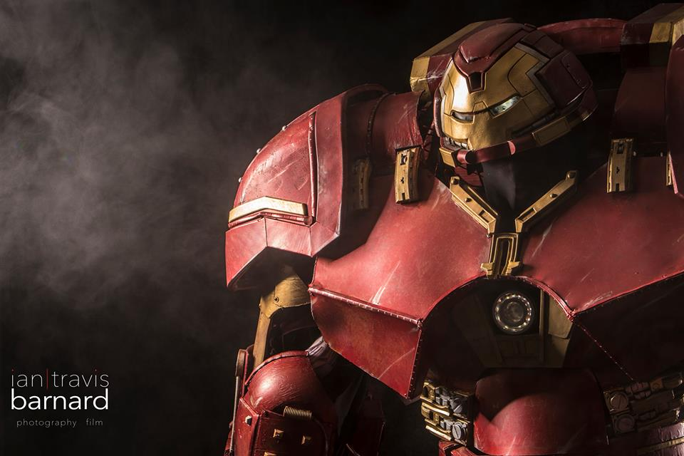 """Standing 9'6"""" tall and weighing """"OMG... too much,"""" this Iron Man Hulkbuster Armor looks like it was just hauled off the set of Avengers: Age of Ultron."""