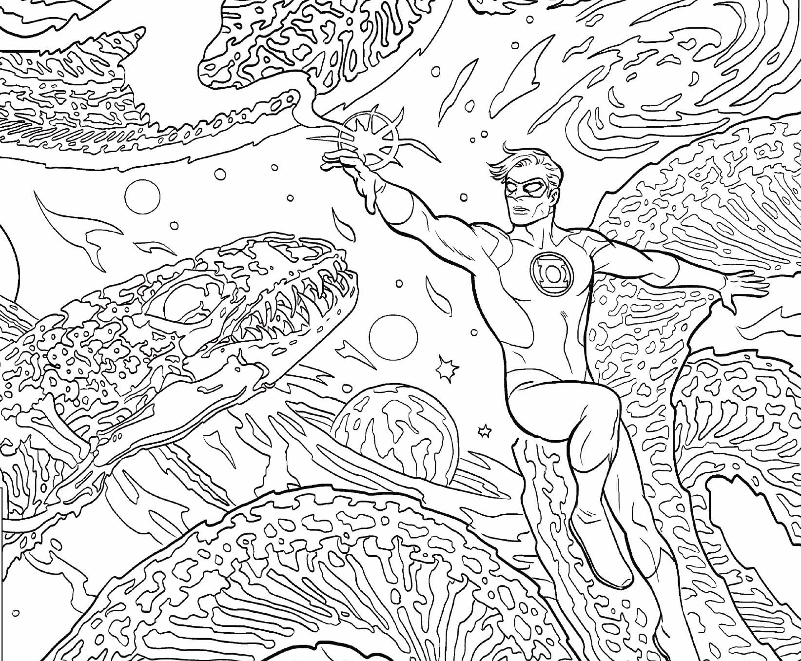 DC Preview: Adult Coloring Book Covers
