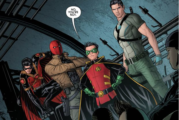 Part 2 of the Robin War starts here. The Robins are coming together and they're preparing for war. Can Damien, Grayson, Red Hood and Tim Drake train an army of kids who want to do the right thing to be Robin? Heck, can you even be Robin without Batman training you? We'll find out in this issue, while we answer the question: is it good?