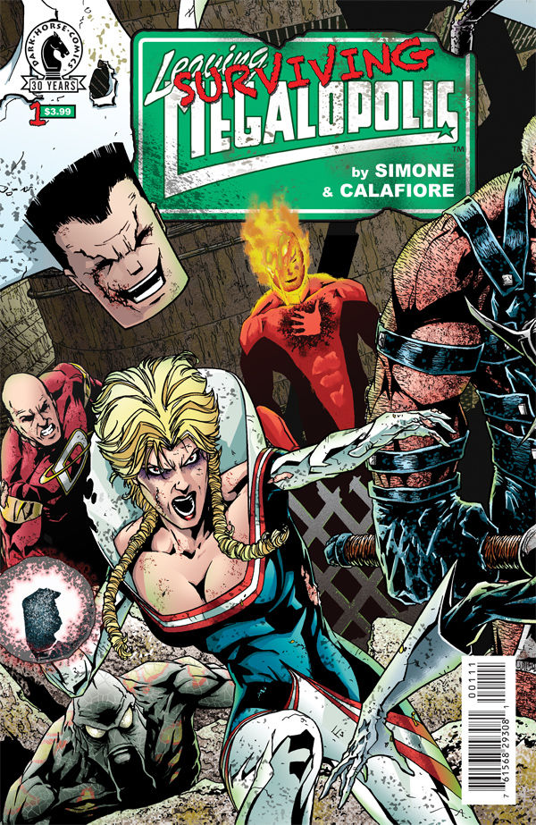 Months ago I raved about Gail Simone's and J. Calafiore's Kickstarter-funded graphic novel, Leaving Megalopolis. A year later, the creative team is back with the first issue of a follow-up series: Surviving Megalopolis. Is it good?