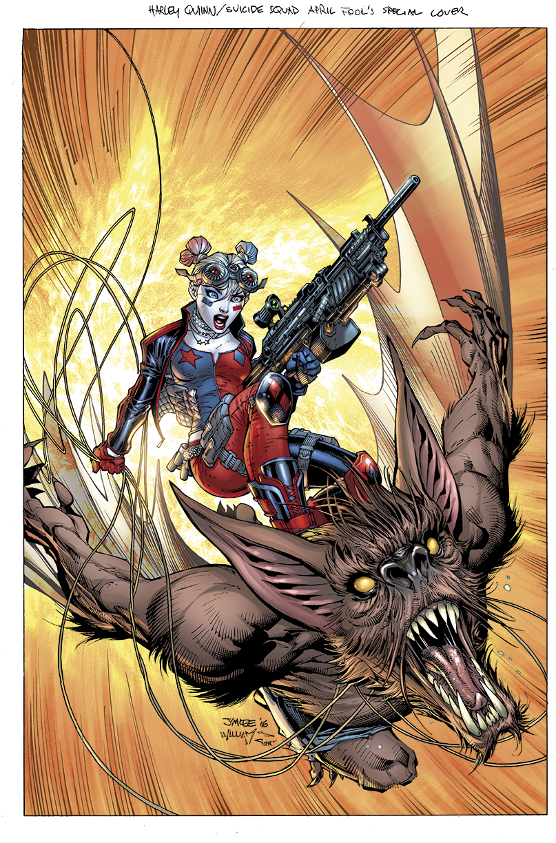 Jim Lee to unveil his cover for Harley Quinn and The Suicide Squad April Fool's Special #1 at ComicsPRO!