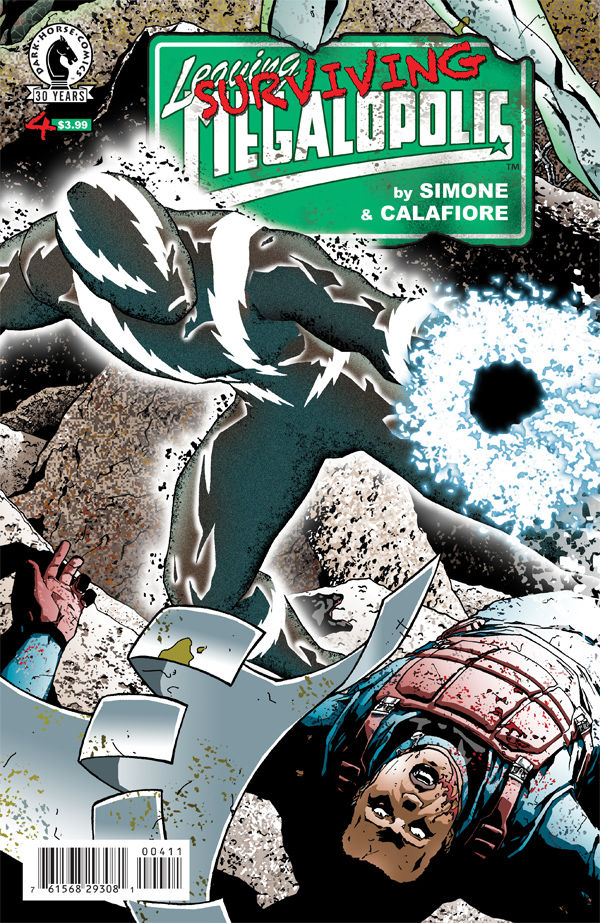 Six weeks after Simone left us with the cliffhanger, this Wednesday we get issue four of Surviving Megalopolis. Is it good?