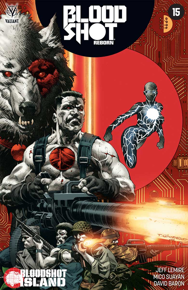 Live. Die. Rejuvenate. Each day, Bloodshot and his predecessors awake to find themselves hunted by the unstoppable engine of destruction called Deathmate. And each day, they die…only to begin their escape once more after the nano-technology inside them repairs their fatal injuries. As Bloodshot and his new teammates begin to understand the brutal logic behind their seaside prison, will the biggest threat to their survival be the horrors that await in the jungle around them…or each other?