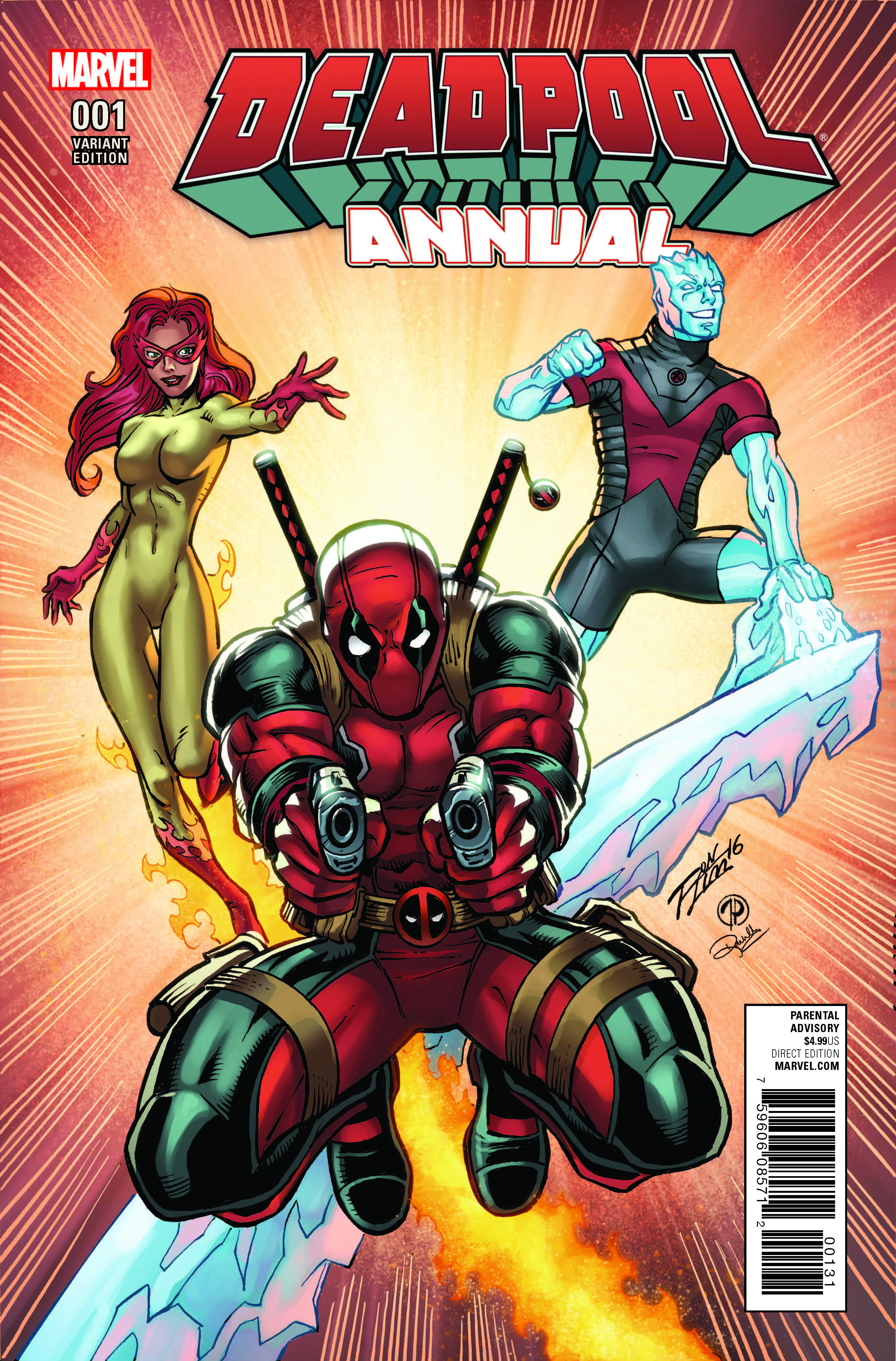 Discover?the secret, unearthed, never-before-viewed pilot of DEADPOOL AND HIS INSUFFERABLE PALS! Featuring?wait, Iceman and Firestar? This isn't right? Parental Advisory