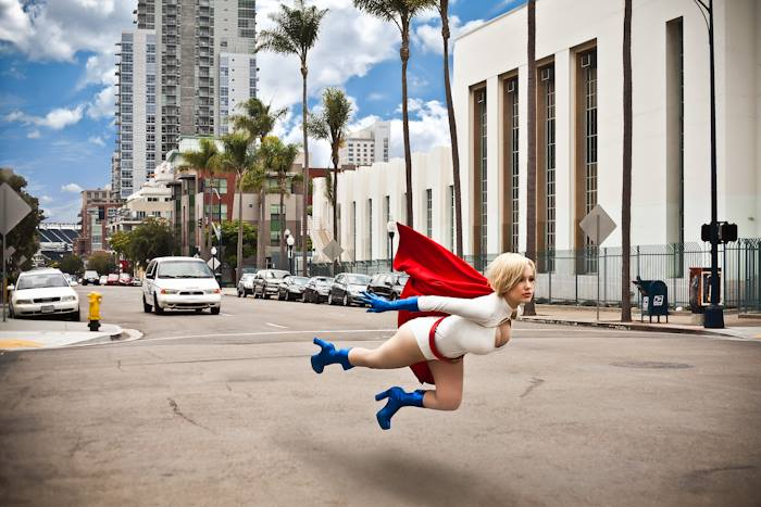 It's no easy task finding someone of such conspicuously Kryptonian proportions to cosplay as Kara Zor-L, AKA Power Girl, but bombshell cosplayer Crystal Graziano manages to pull it off in super -- no, powerful fashion.