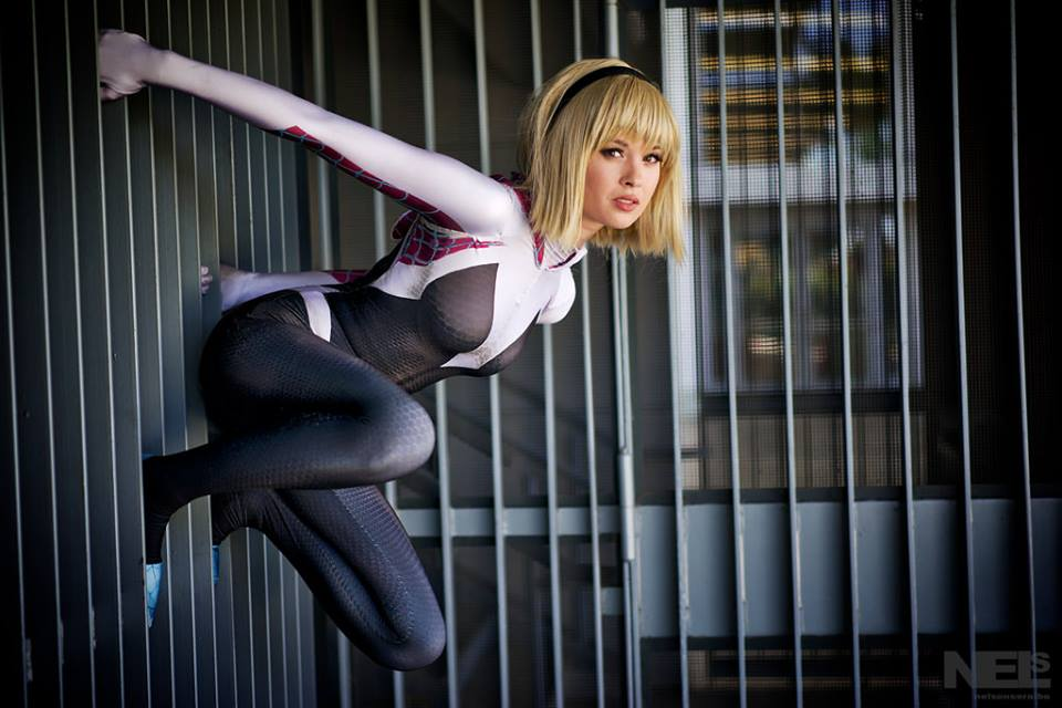 Whether you like the character of Spider-Gwen or dismiss her as a marketing contrivance, you have to admit that her Robbi Rodriguez-designed costume is very striking.  (The same extends to evil counterpart, Spider-Gwenom.)