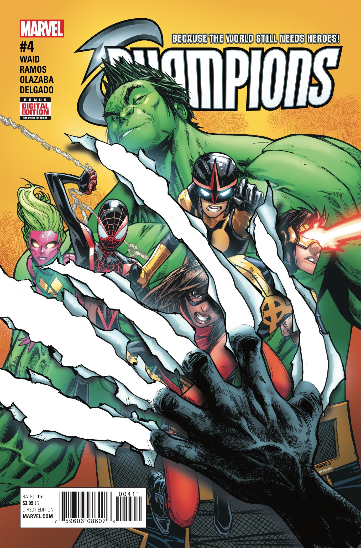 After an emotionally draining and intense battle of ideologies in issue #3, the teen sensations try to save their own hides in Champions #4. Is it good?