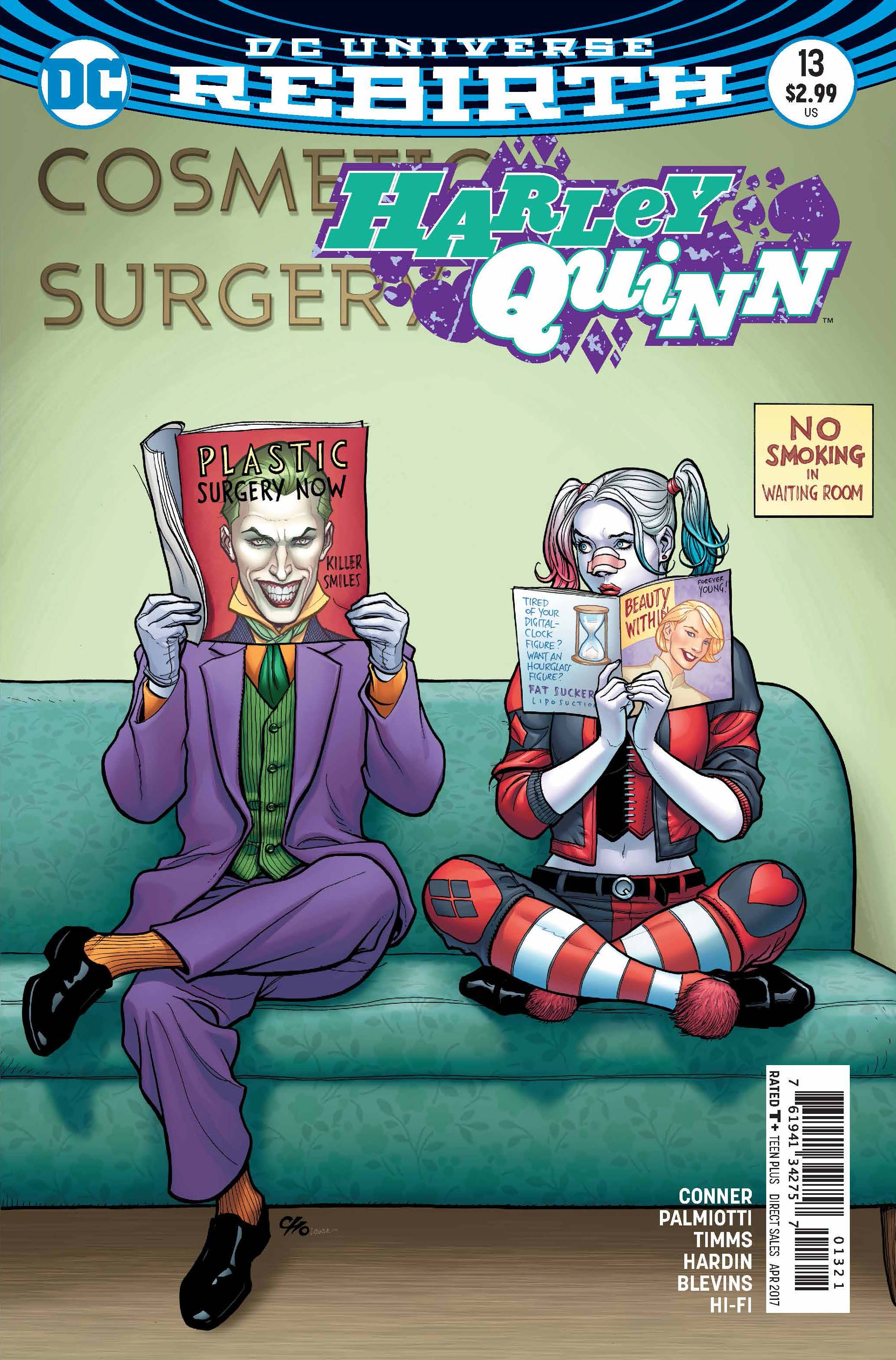 """""""Joker Loves Harley"""" finale! Just how did a gentle, """"reformed"""" Joker come to arrive at Harley's doorstep when everyone believed him dead and gone? The answer's in this issue—and it'll shock you!"""