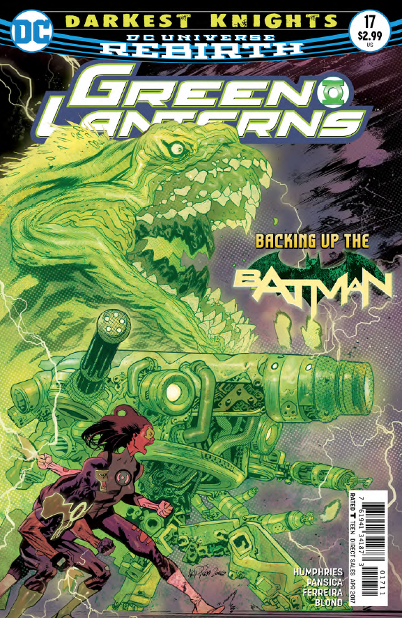 The Green Lanterns are in Gotham, Batman is none too pleased with Simon Baz's gun, and the Scarecrow is filling the heads of Gothamites with fears of the bat. Seems like a good team up so far, but how does it conclude this week? We peer in to answer the question, is it good?