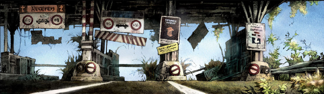 Mankind has fallen into despair and desolation in the newest graphic novel by Humanoids Inc.,Savage Highway. Helene treks across the French countryside, her only ally is a violent loner, Mo. Will they be able to trust one another long enough to find what they're looking for? Is it good?