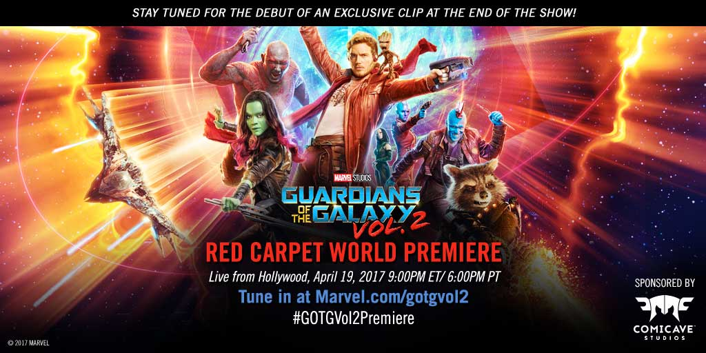 "Watch the red carpet world premiere of Marvel Studios' ""Guardians of the Galaxy Vol. 2"" Tonight!"