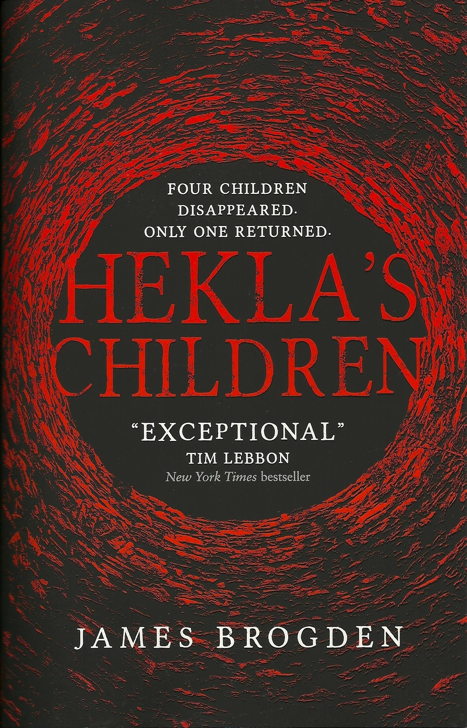 """""""Four children disappeared, only one returned"""".  That's the short synopsis of Titan Book's Hekla's Children.  Perhaps they didn't have the space to elaborate, as this novel is much more than a simple missing persons story.  It could be shelved under horror, historical fiction, or fantasy reliably, as Hekla's Children defies a simple classification.  It's the story of a monster from another world intruding on ours and the lengths to which people will go, out of regret and finding closure."""