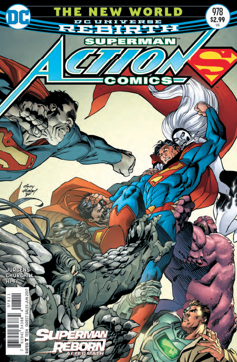 Action Comics continues as Superman attempts to figure out what has changed in his history. Something is irking him since fighting Mr. Mxyzptlk and now he's using crystals in the Fortress of Solitude to figure out what is perturbing him.