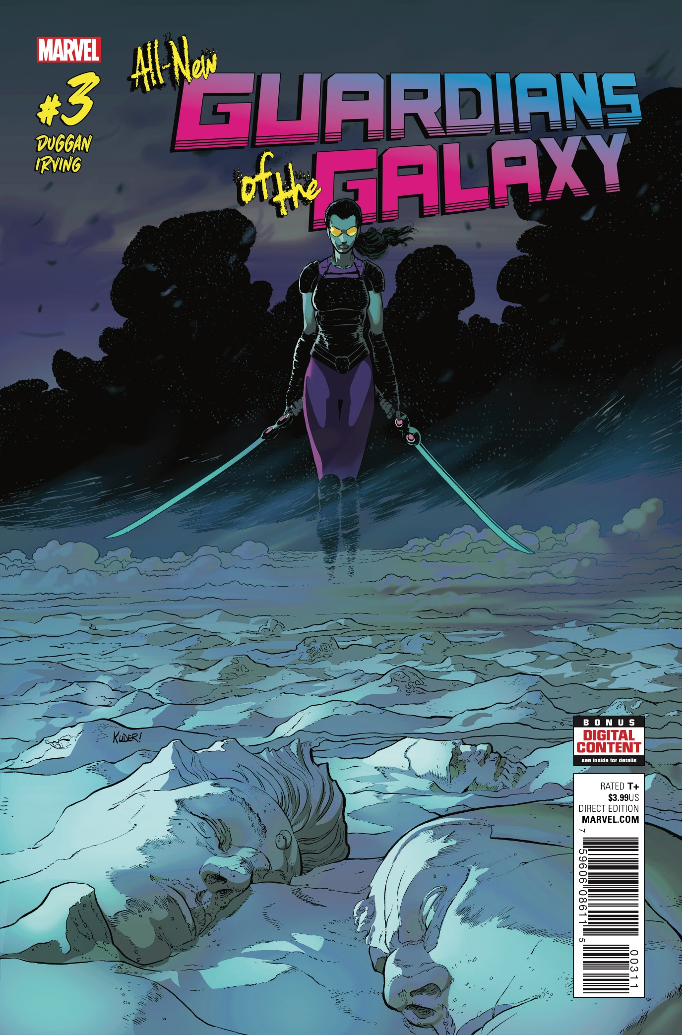Part of the plan for All-New Guardians of the Galaxy all along was to stagger the main story so Aaron Kuder could continue to draw every part of the story arc, but also deliver this series on a biweekly schedule. So what happens when he's not drawing the main story arc? Why, Gerry Duggan reveals the backstory for each of the heroes so we can find out how they got here. This week we get to learn why Gamora has been so ornery the last few issues and boy, is there a good reason!