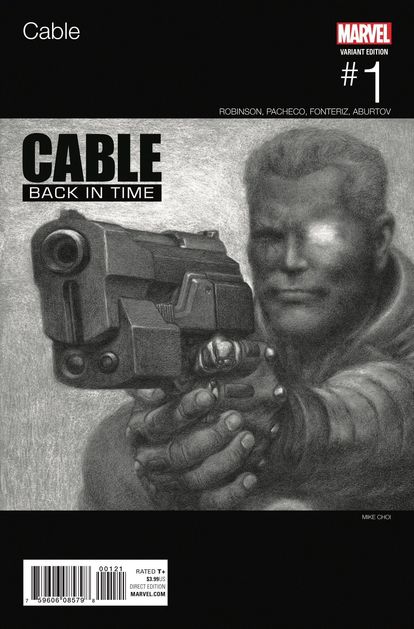 WALK SOFTLY...AND CARRY A BIG GUN! CABLE sees the mighty mutant return on a brand-new mission…with all of time in the balance! When Cable picks up the trail of a threat in the timestream, he sets off on a high-speed, history-spanning chase to save reality as we know it. From prehistory to modern day, whether it's a six-gun duel at high noon or a high-tech sword fight in an ancient land, Cable is the only man who can keep history from unraveling!