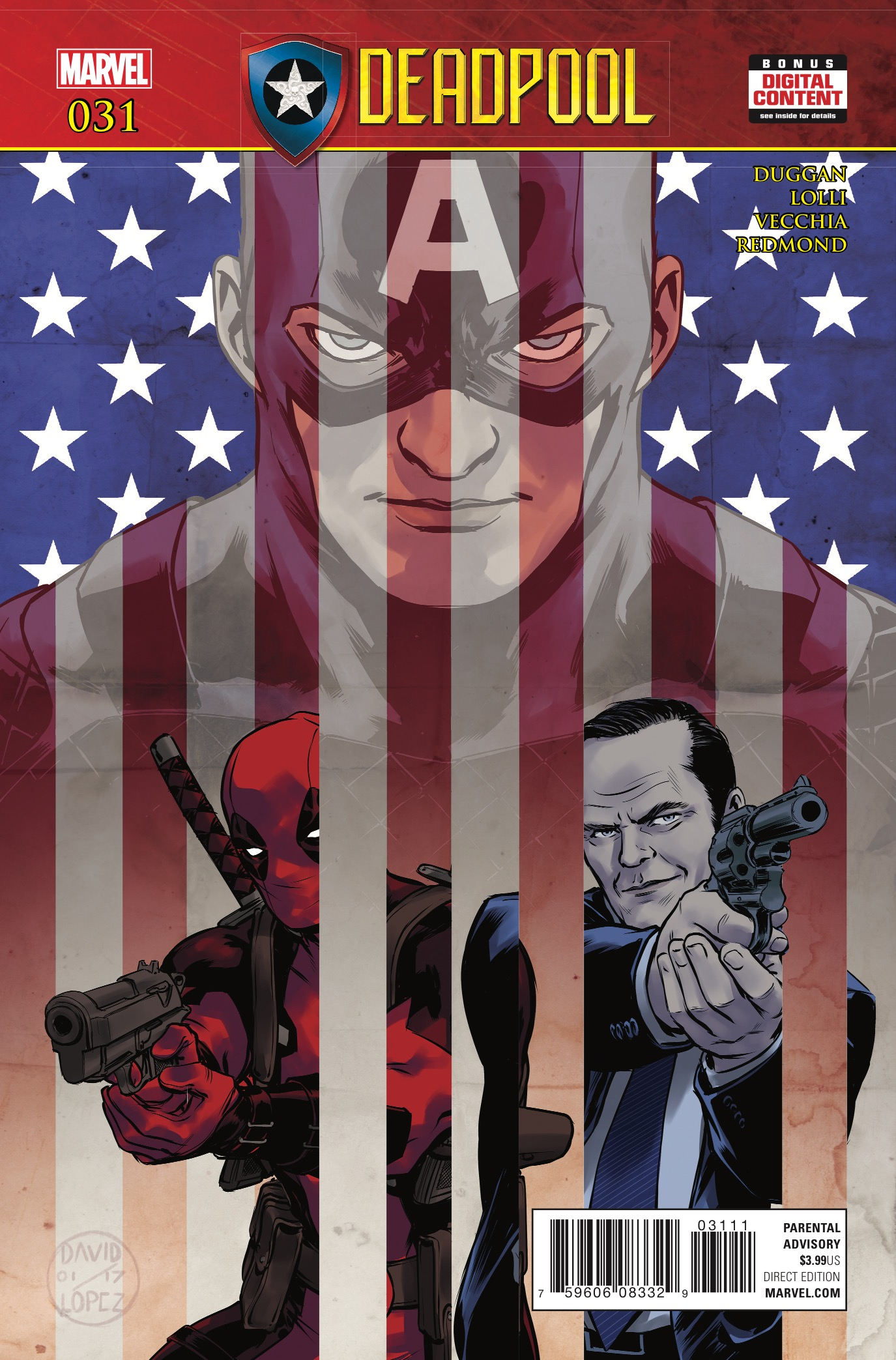 Considering how dark and upsetting the Secret Empire event has been I've been dying to read Deadpool. His innocent and silly nature could bring your spirits up. Then again, this is a tie-in, so how the heck does Gerry Duggan pull such a fun character into such a dark time?