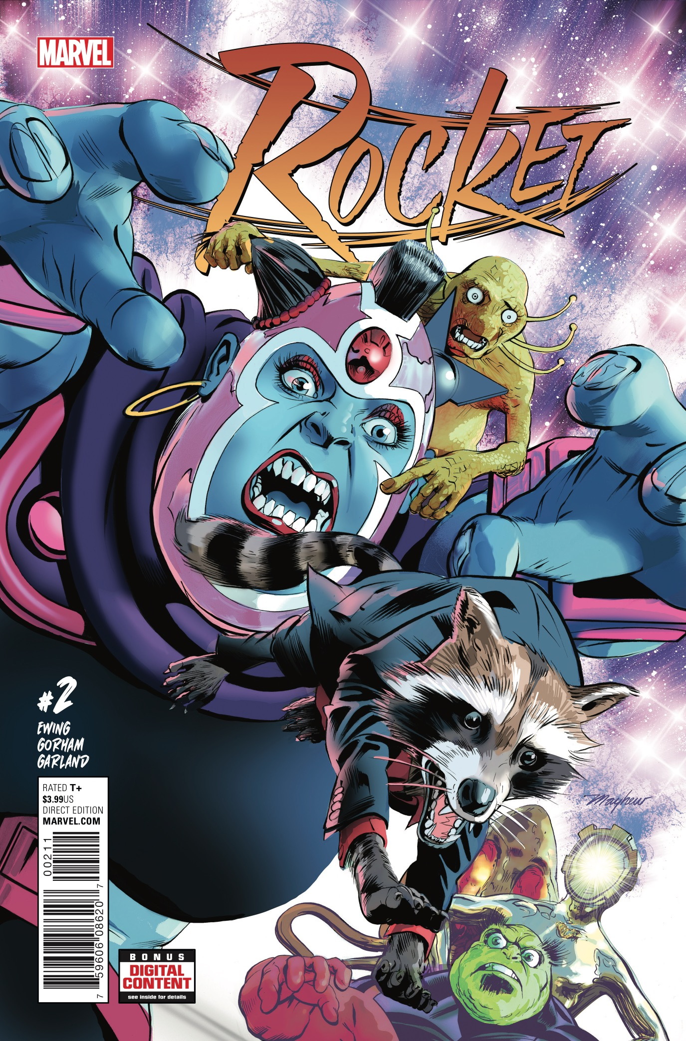 I may not have loved the last issue of this series, but you should always give a comic book at least the second issue to really win you over. Boy, was I surprised to be won over! Rocket Raccoon is in the middle of a heist that's gone very wrong and the threat he faces alien team called Technet, which may be one of the wackiest and most 80s thing to come out of Marvel Comics in a while.