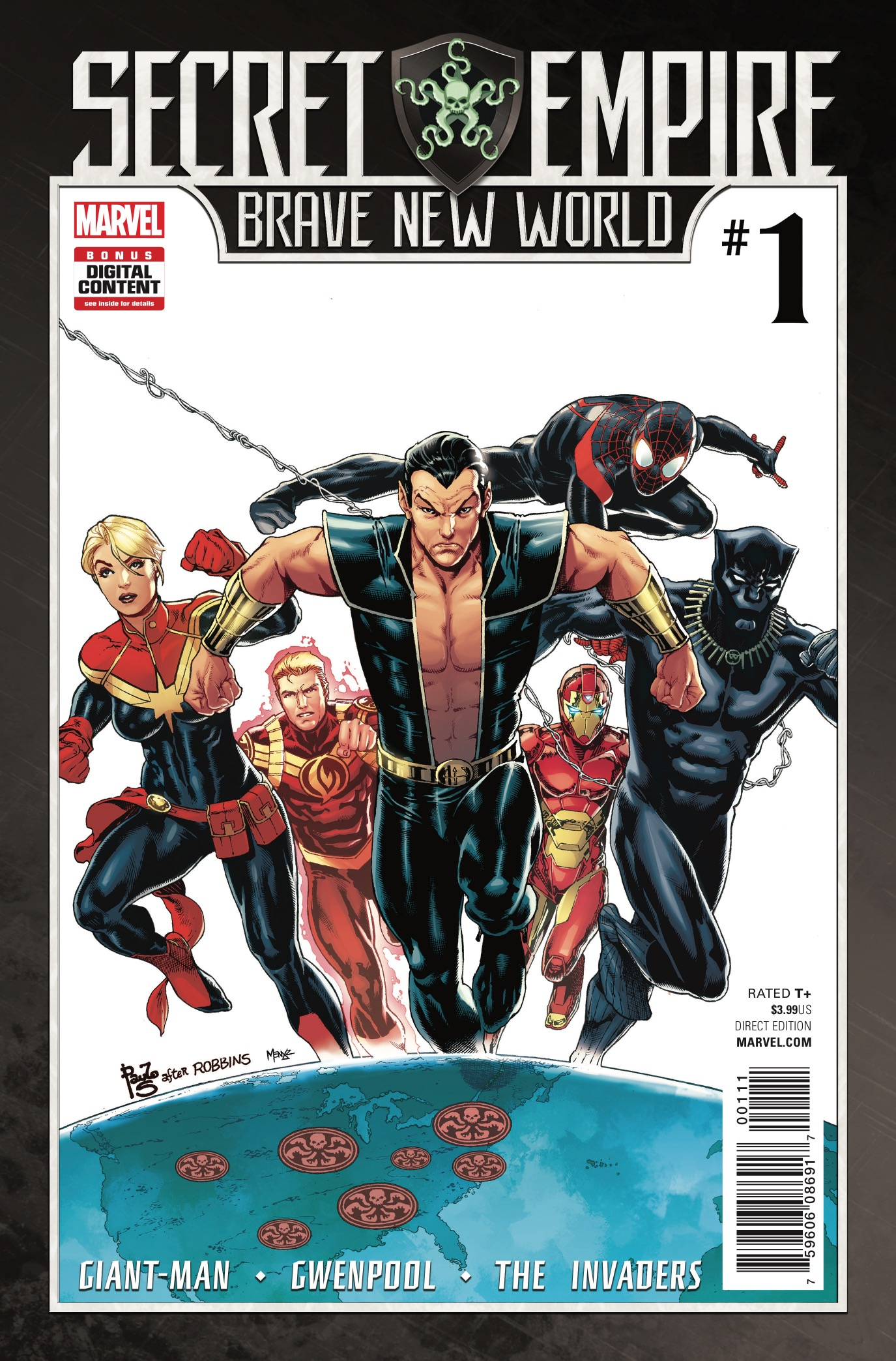 It is a new America, one that secures peace through strength! You will obey and you WILL read this event tie-in anthology book, Secret Empire: Brave New World #1! It doesn't matter if it's good!!! But is it?
