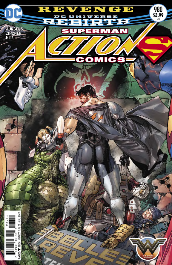 The villain team up of the century (hey we're only 17 years into this one so it's true) continues in Action Comics this week as Cyborg Superman, Mongul, Eradicator, Blanque, and Metallo aim to kill Supes dead. Considering how hard each one has been for Superman to fight in the past this doesn't look good for our favorite hero. With the addition of one more villain in this issue, what chance does he have?!