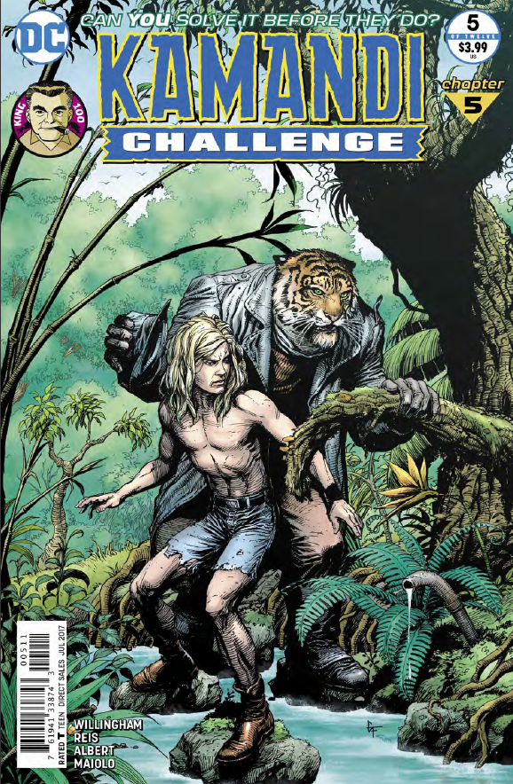 Kamandi Challenge is back this week and it's probably one of my most anticipated series. Most comics you have to read a few back issues just to understand what is going on, but not with this series. You can pick it up, enjoy it, and be satisfied even though the stories continues on. That's because each issue features a randomly selected writer and artist who must get Kamandi out of a situation to open the issue and into a brand new one by the end. It's a challenge for the creators to figure out how to get Kamandi to safety.