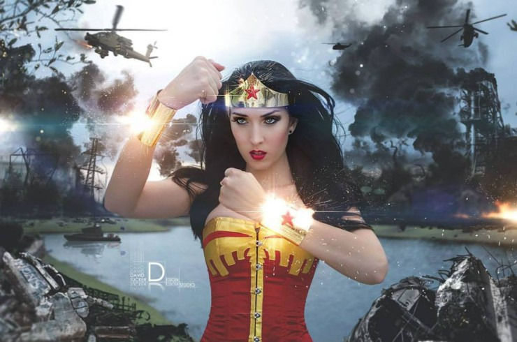 The early reviews for the upcoming Wonder Woman movie have been overwhelmingly positive, so we're celebrating with some of our favorite Wonder Woman cosplay offerings.  First up, Jenifer Ann, who represents the strength and determination of the Queen of the Amazon in fine form with the following set: