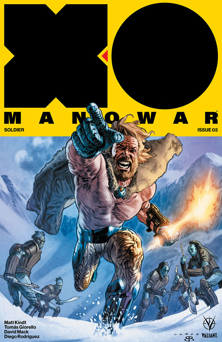 In possibly the best science fiction war comic of the year, Matt Kindt and Tomas Giorello have delivered a breakneck and beautiful action fest showcasing war at its worst. They've also taken the hero that lives in the X-O Manowar suit and broken him down so we can see he's a warrior at heart and ultimately why the suit chose him.