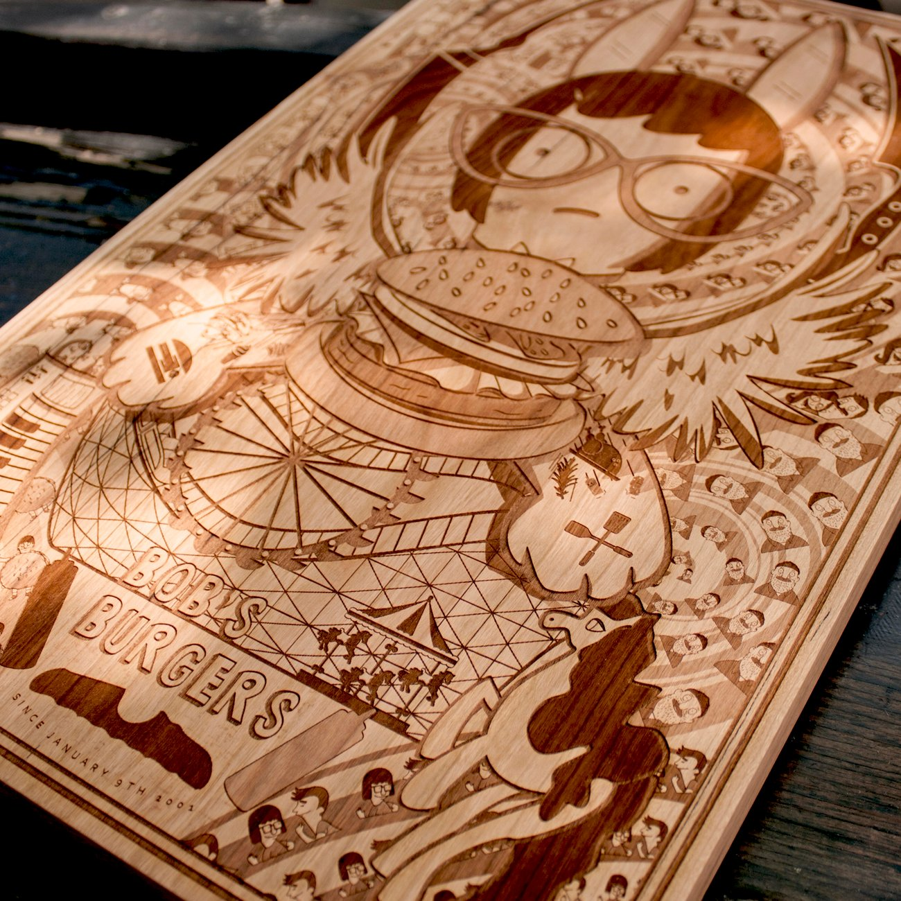 VIDEO] Laser-Etched, Pop-Culture Carvings from Spitfire Labs
