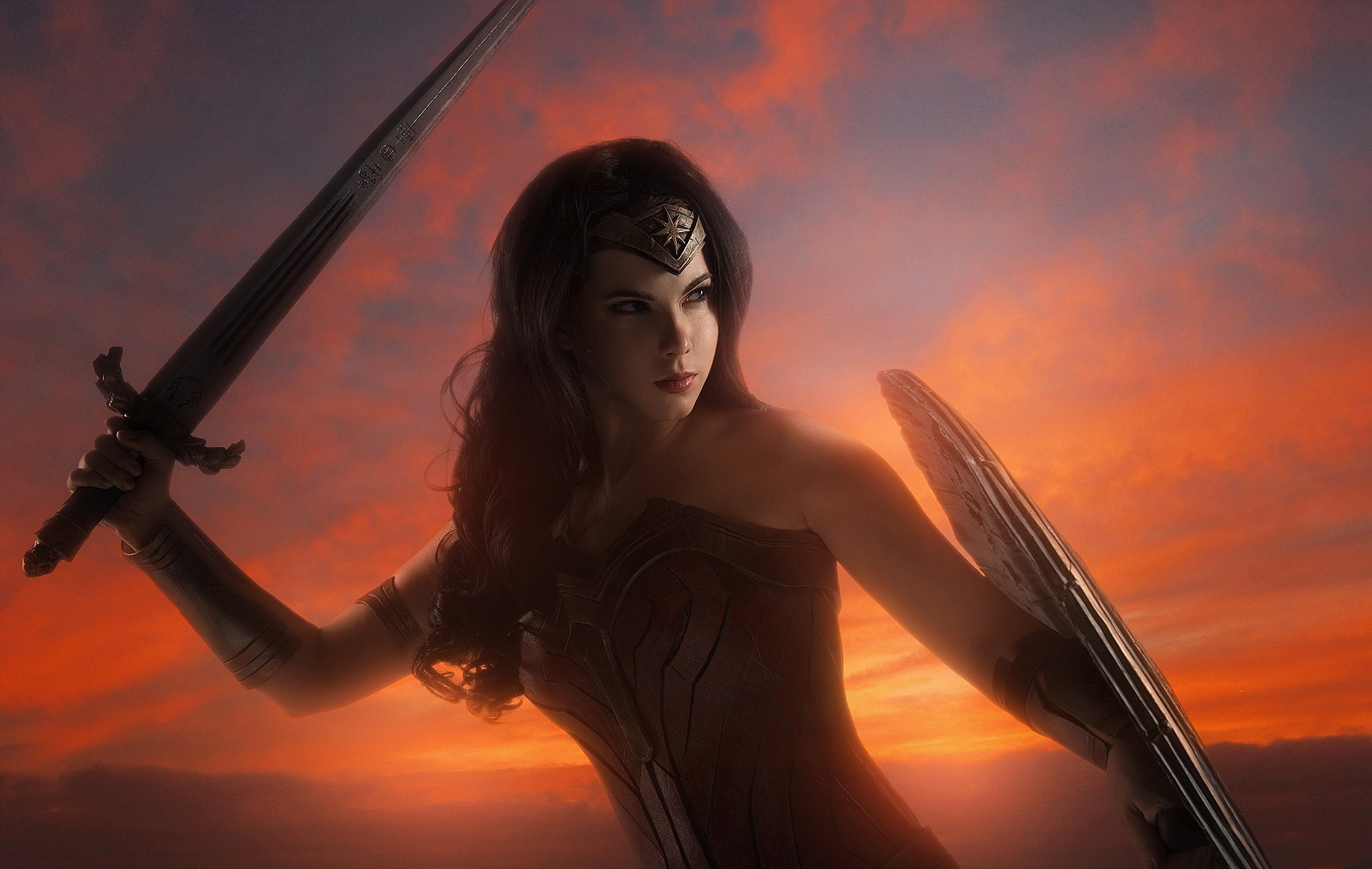 We're still getting hyped for the Wonder Woman movie release on June 2nd and celebrate today with this cosplay offering from cosplayer Anastasya Zelenova that's so impressive you'll think the following photos are extra promo stills from the movie itself.  Big ups to photographer Sergey Shetukhin for creating such amazing atmosphere as well.