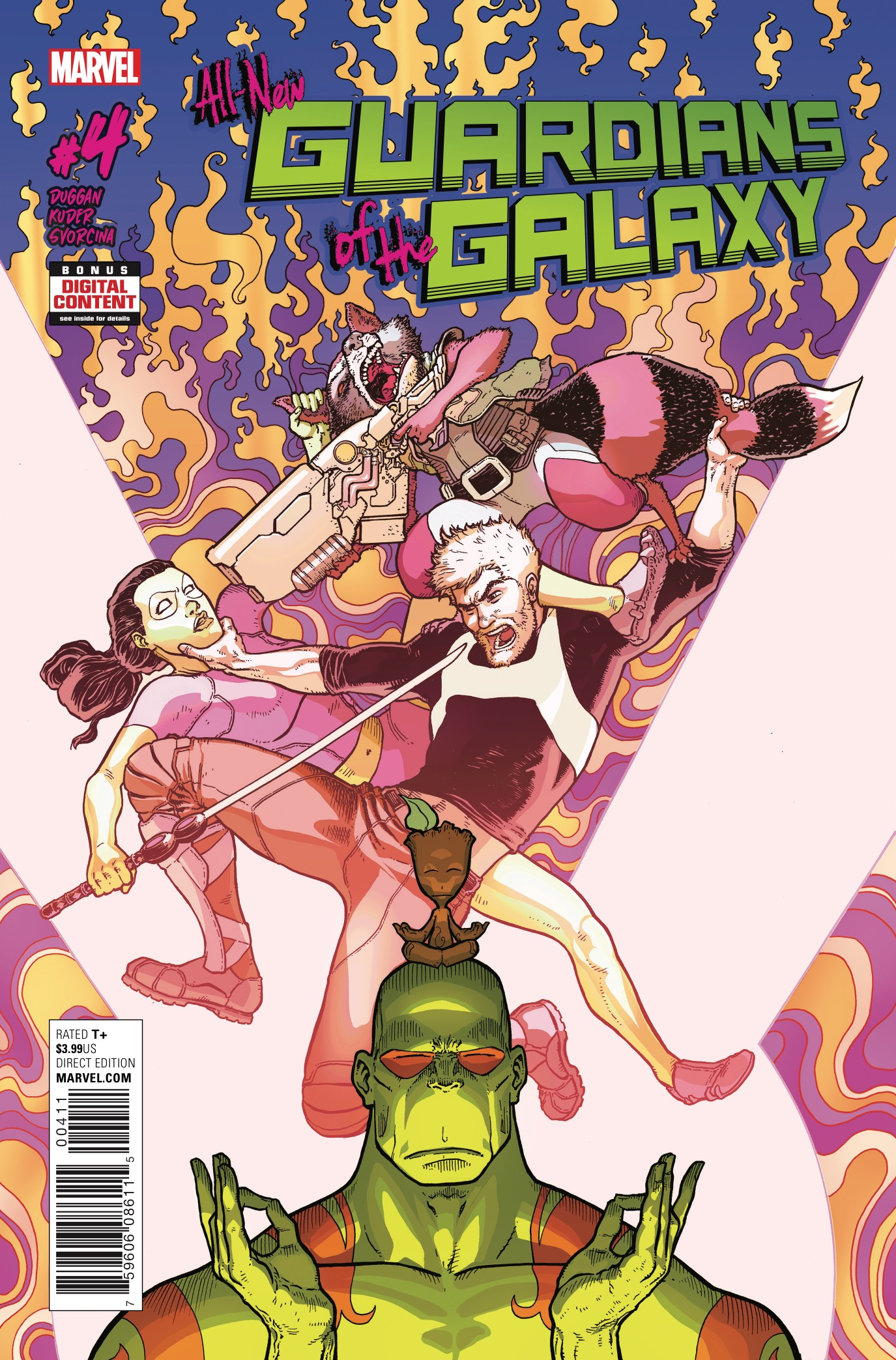 Shockingly, I wasn't completely bowled over by the first issue of this series. Then the Free Comic Day comic made me hate myself for ever doubting. Then the third issue made me need to know more about Gamora. And now, the fourth issue, back to the main story and picking up where issue #2 left off. Delightful...