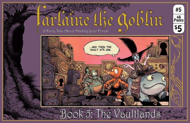 Pug Grumble's Farlaine the Goblin Book 5: The Vaultlands features cute character designs and creative fantasy concepts. Is it good?