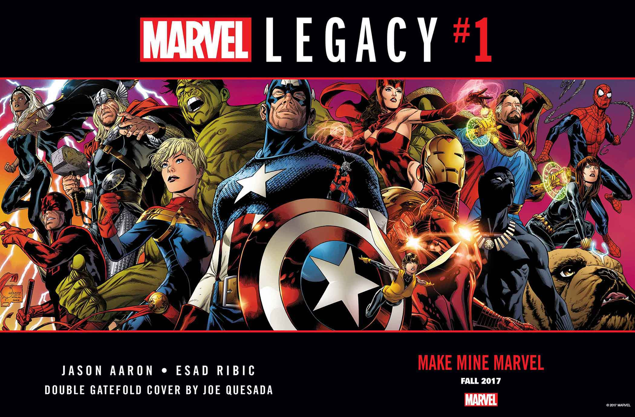 September 2017's top selling comic books: Marvel Legacy is already 2017's best-selling comic
