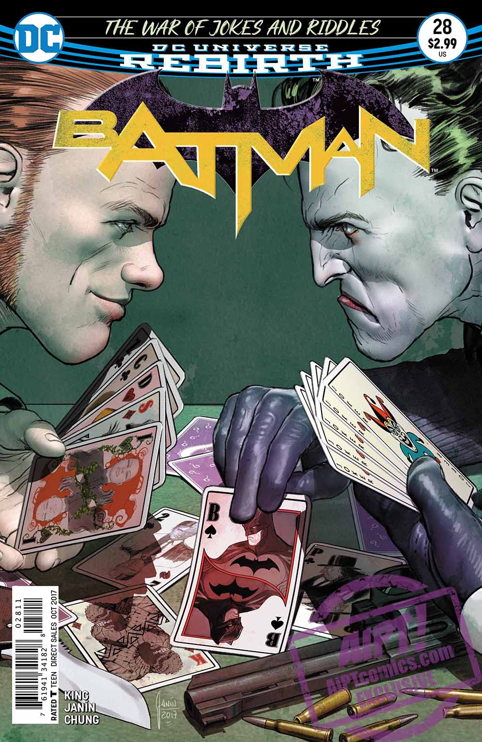 Batman #28 Review: Deadshot and Deathstroke go head-to-head with Batman caught in the middle as 'The War of Jokes and Riddles' escalates