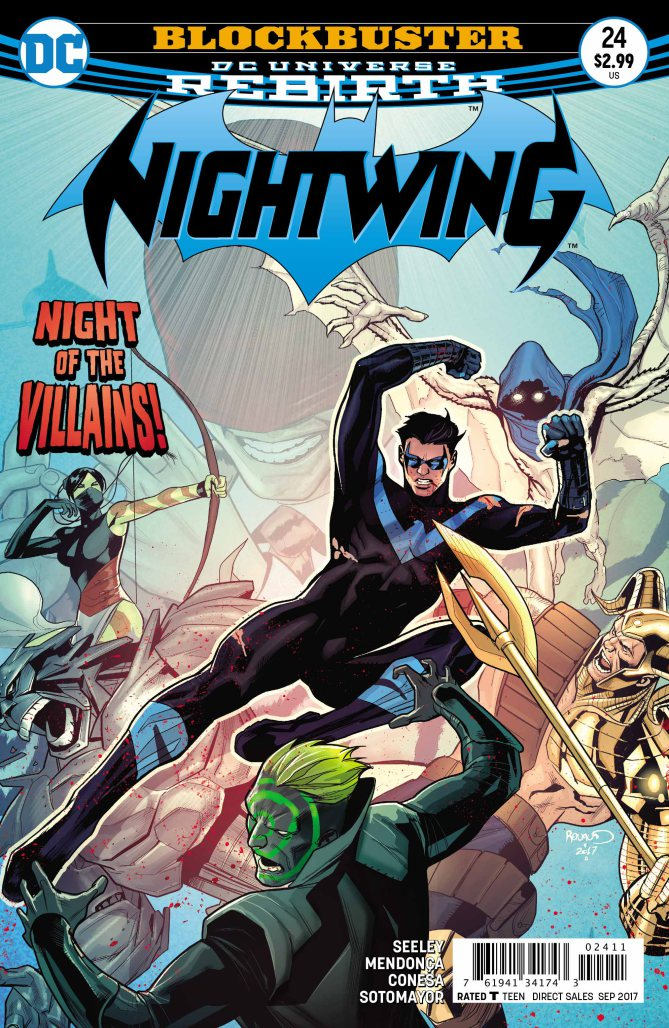 Nightwing gets flung into an all-out, multi-villain brawl.