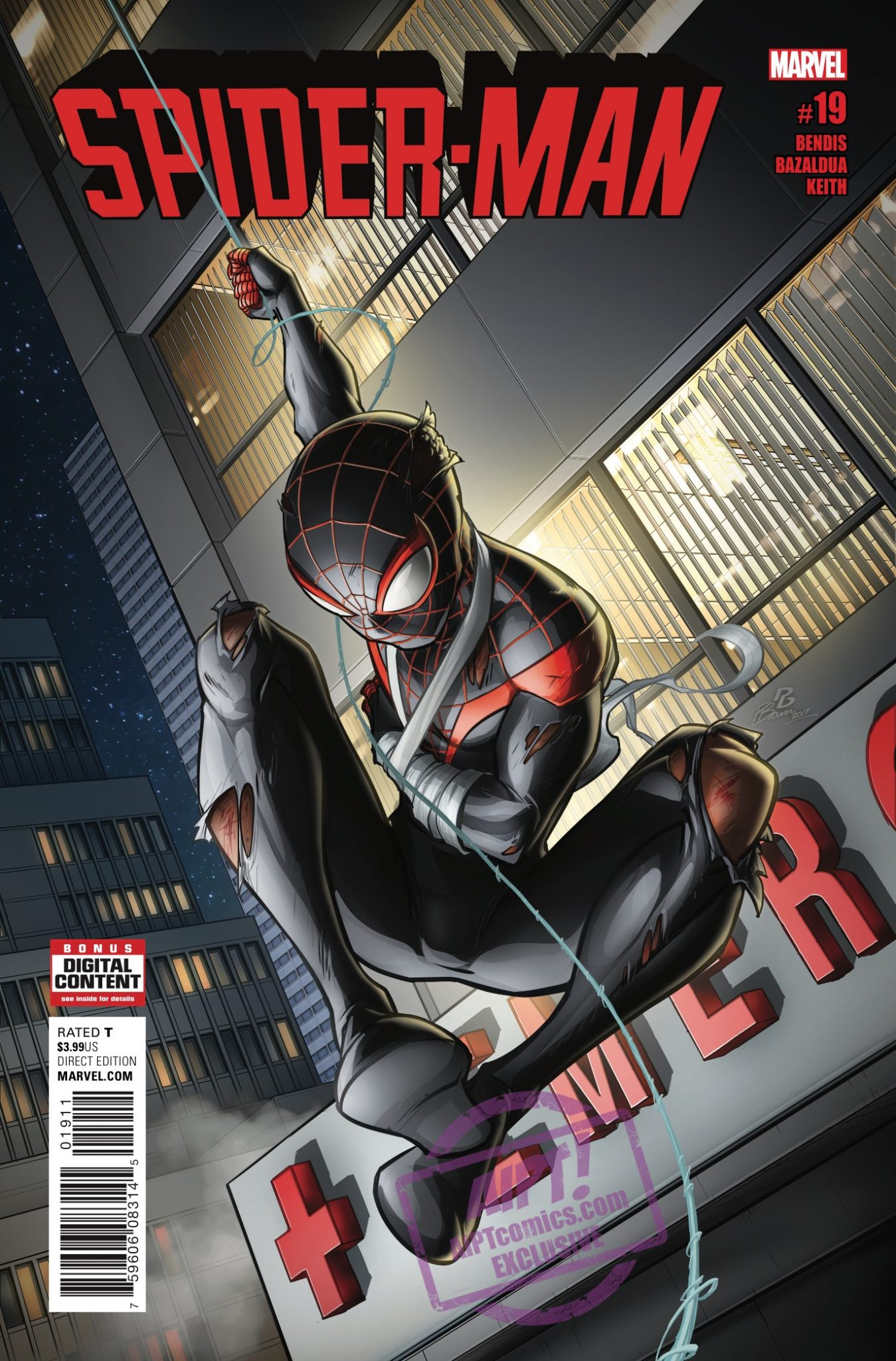 Can Miles defeat his inner demons?  And what would Ganke look like as a superhero?  We find out in Spider-Man #19.