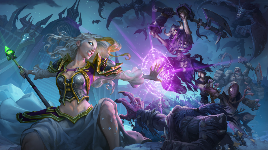 Hearthstone: Knights of the Frozen Throne launches August 10